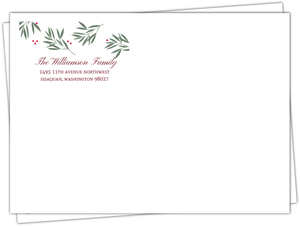 Berry Branches Holiday Envelope