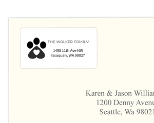 Paws Love Joy Address Label