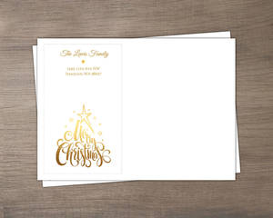 Elegant Faux Gold Christmas Envelope