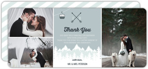 Whimsical Winter Mountains Wedding Thank You Card