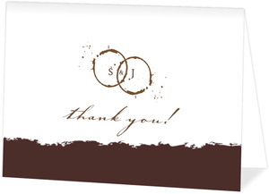 Brown Coffee Perfect Blend  Wedding Thank You Card