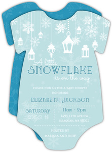 Little Snowflake Winter Baby Shower Invitation