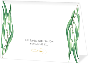 Winter Greenery Wedding Thank You Card