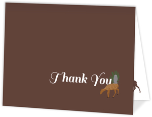 Rustic Woodland Animals Wedding Thank You Card