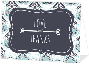 Something Blue Wedding Thank You Card