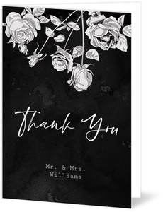 Vintage Gothic Wedding Thank You