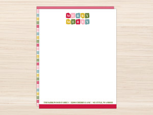 Bright Merry Merry Christmas Letter Writing Paper
