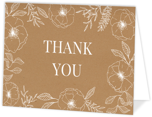 Vintage Purple Floral Thank You