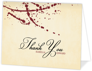 Rustic Love At First Bite Vampire  Halloween Thank You Card