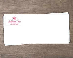Holiday Red Snowflakes Envelope
