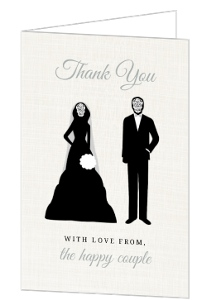 Skeleton Bride And Groom Thank You Card
