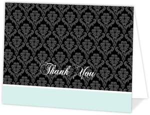 Rustic Black Vines and Crow  Halloween Thank You Card