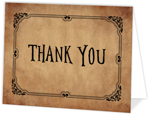 Rustic Black Bewitching  Halloween Thank You Card
