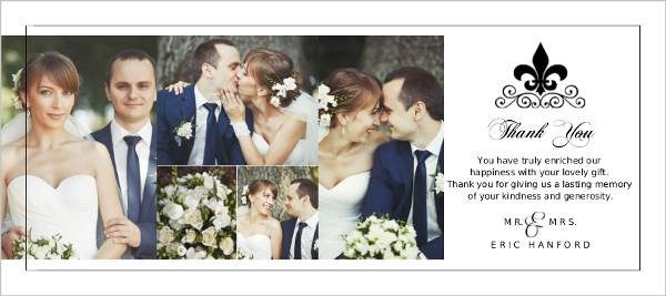 Wedding Thank You Cards.Black And White Fleur De Lis Wedding Thank You Card