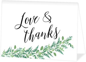 Gorgeous Greenery Wedding Thank You Card