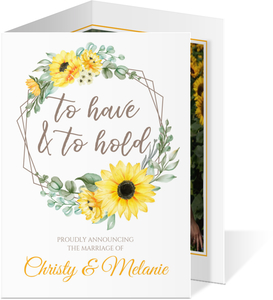 Sunflower Wedding Announcement