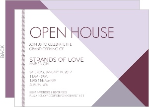 Modern Lavender Business Open House Invitation