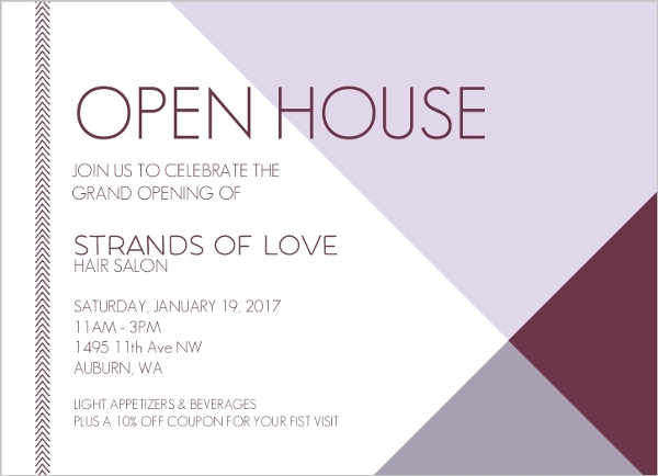 Modern Lavender Business Open House Invitation Business Open House
