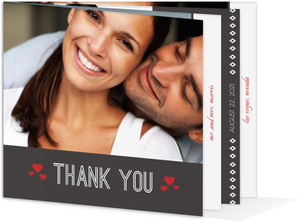 Lucky Love Red Dice  Wedding Thank You Card