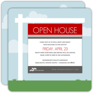 Yard Sign Business Open House Invitation