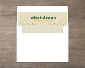 Christmas Blessings Faux Gold Confetti