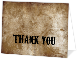 Rustic Black Barbwire  Halloween Wedding Thank You Card