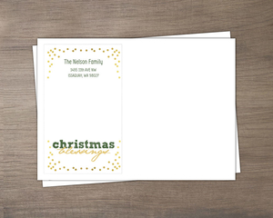Christmas Blessings Confetti Envelope