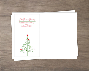 Simple Festive Tree Christmas Envelope