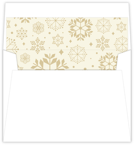 Classic Gold Snowflake Holiday Liner