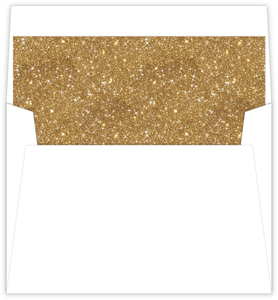 Dark Gold Faux Glitter Envelope Liner