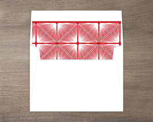 Red and White Deco Pattern Liner
