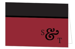 Black And Red Italian Themed Thank You