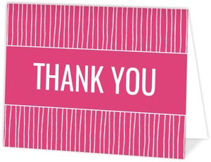 Whimsical Magenta Graduation Thank You