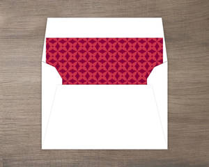 New Home Red Pattern Envelope Liner