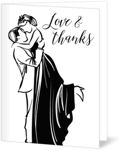 Classic Black And White Wedding Thank You Card