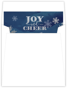 Navy Blue Silver Snowflakes Liner