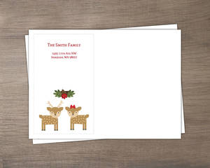 Reindeer Holly Jolly Envelope