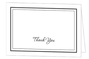 Classy Black And White Wedding Thank You Card