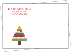 Washi Tape Tree Holiday Envelope