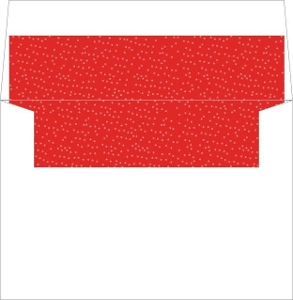 Whimsical Red and White Dotted Envelope Liner