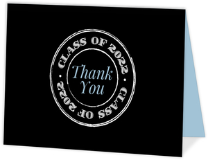 Simple Rustic Stamp Graduation Thank You Card