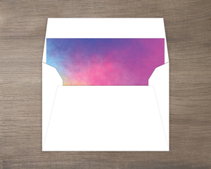 Simple Colorful Watercolor Envelope Liner 5x3.5