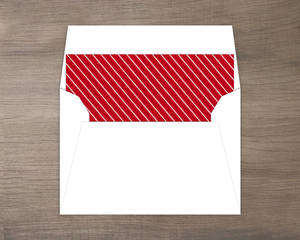 Red and White Simple Thin Holiday Stripes