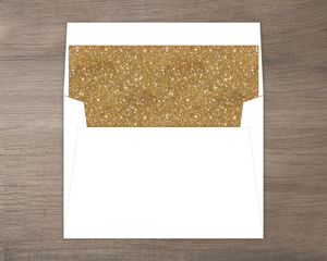 Simple Faux Gold Glitter Envelope Liner