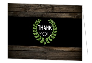 Woodgrain Movie Graduation Thank You Card