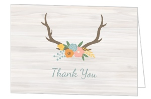 Rustic Pastel Floral Graduation Thank You