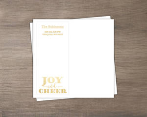Faux Foil Joy and Cheer Envelope