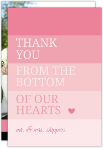 All Pink Ombre  Thank You Card