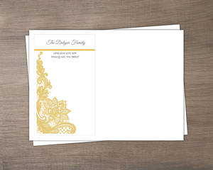 Yellow Floral Lace Envelope
