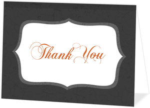 Regal Pumpkin Halloween  Wedding Thank You Card